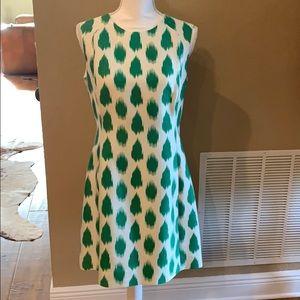Elizabeth McKay Dress Green/White